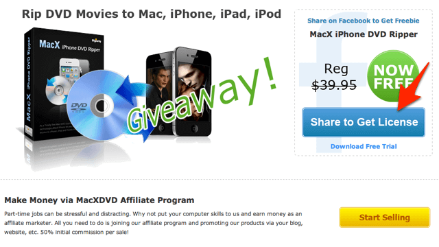 MacX iPhone DVD Ripper:DVD 擷取轉檔工具,限時免費下載(Mac)