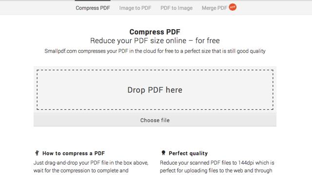 SmallPDF 線上壓縮 PDF 文件,減少檔案大小
