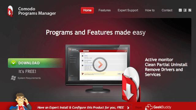 Comodo Programs Manager 徹底刪除軟體及殘留檔案