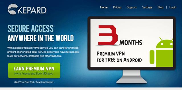 Kepard 免費提供 3 個月 Premium VPN 帳戶(Android) via @freegroup
