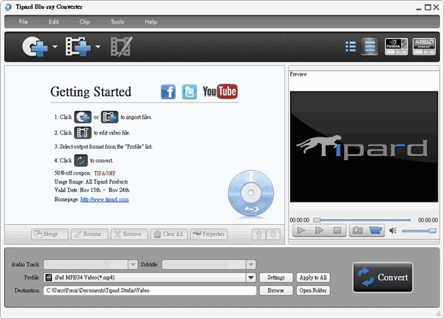Tipard Blu-ray Converter 藍光、DVD 電影轉檔軟體,限時免費