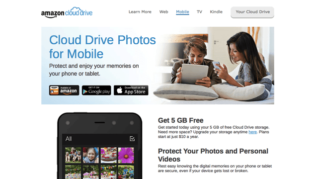 Amazon Cloud Drive Photos 免費 5GB 手機相片同步、備份空間(iOS、Android) via @freegroup