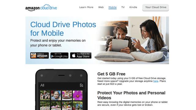 Amazon Cloud Drive Photos 免費 5GB 手機相片同步、備份空間(iOS、Android)
