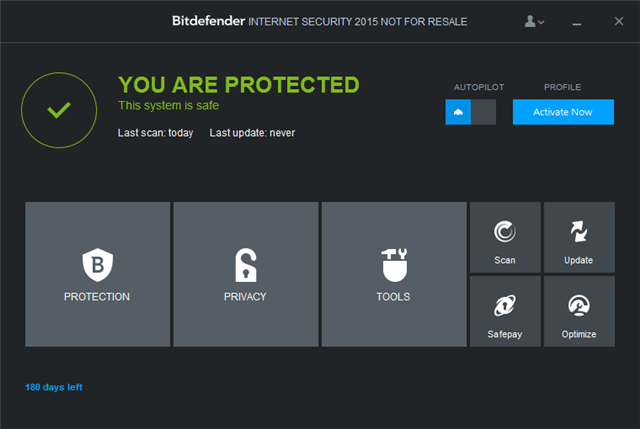 Bitdefender Internet Security 2015 比特防毒最新版,限時免費下載(180 天)