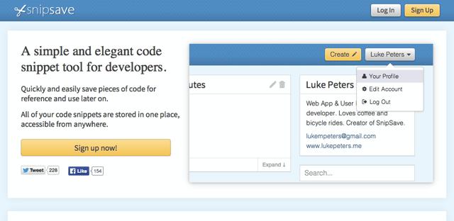 SnipSave 線上程式碼儲存、分享服務