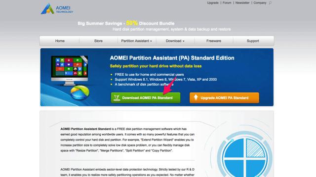 AOMEI Partition Assistant 免費磁碟分區管理軟體,輕鬆調整、合併、分割硬碟磁區