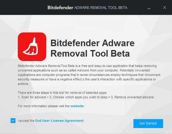 Bitdefender 惡意程式移除工具,輕鬆刪除廣告軟體、工具列或瀏覽器綁架