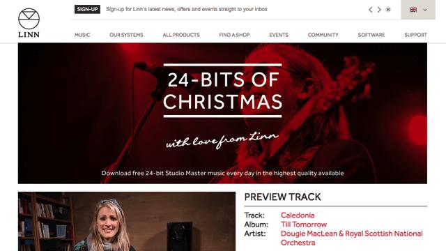 Linn 推出 24-bits of Christmas,聖誕節前免費下載高音質 FLAC 音樂