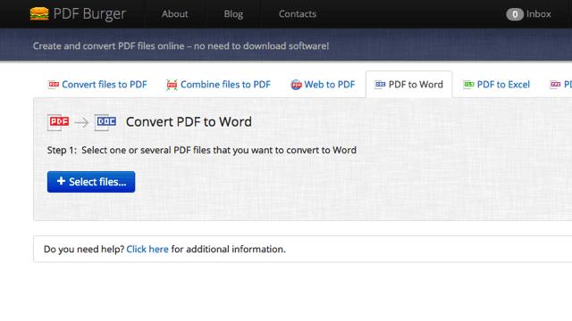 PDFBurger 線上製作、合併 PDF 文件,或轉檔為 Word、Excel 等格式