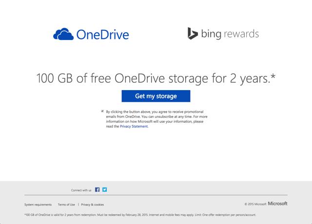 微軟 OneDrive 100 GB 容量升級教學,善用 Bing Rewards 獲取兩年份空間