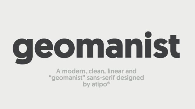 geomanist 具現代感、優雅設計英文字型下載