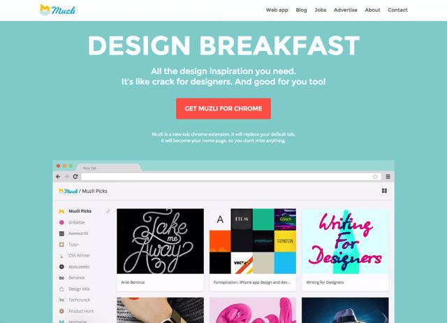 Muzli 設計師靈感食糧,每開新分頁給你滿滿的能量(Chrome 擴充功能)