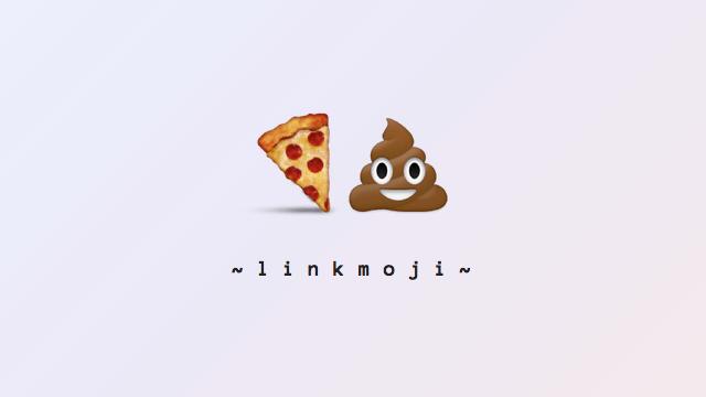 Linkmoji 把超鏈結轉換成表情圖案,很有喜感兼具搞怪性質的縮網址服務