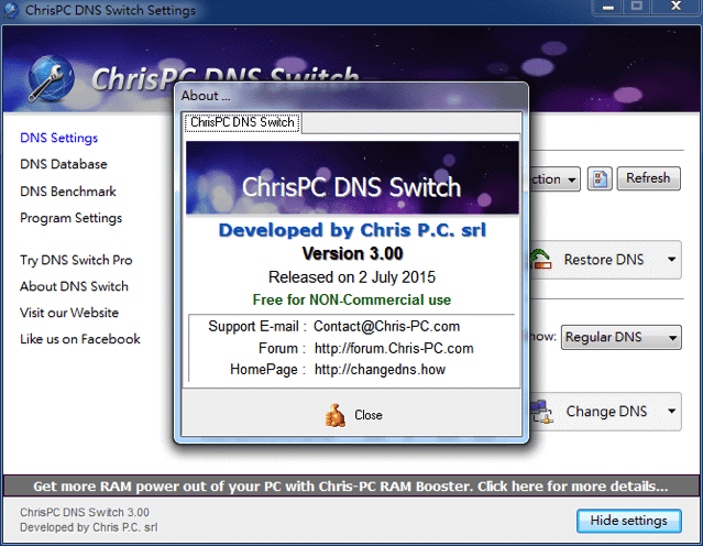 臉書圖片破圖打不開?使用 ChrisPC DNS Switch 快速切換 DNS 伺服器設定
