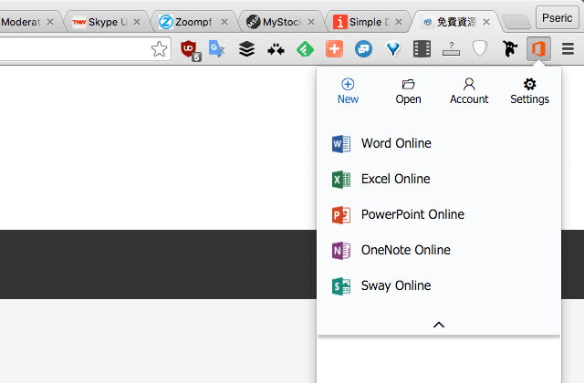 Office Online for Chrome