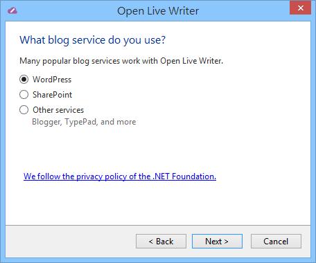Open Live Writer