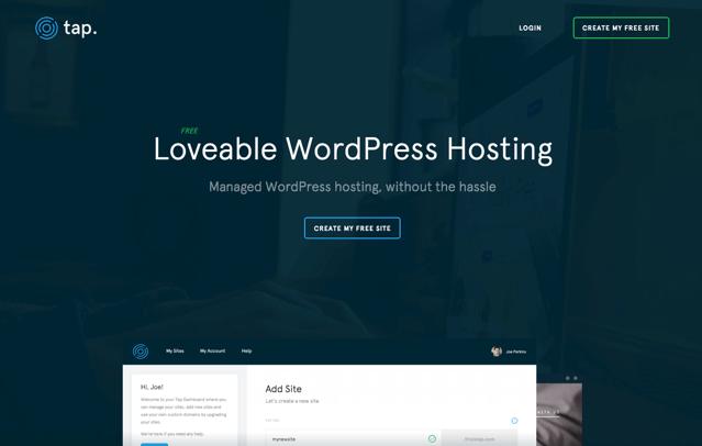 Tap 免費 WordPress 架站空間,全管理式託管可自行安裝佈景主題外掛