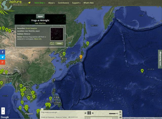 跟隨聲音環遊世界,Nature Soundmap 收藏世界各角落大自然原音