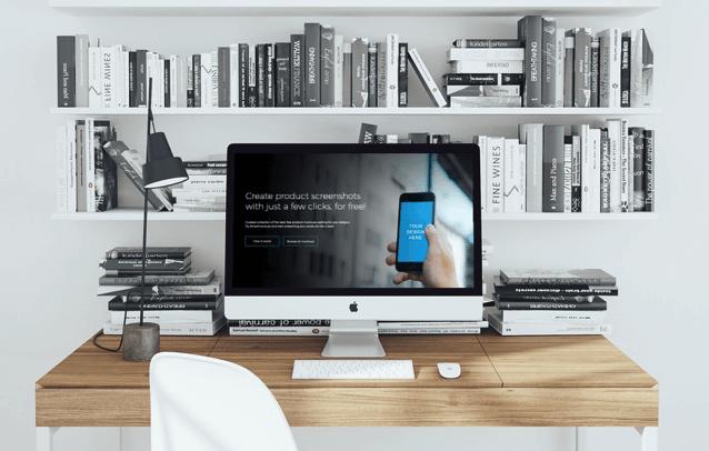 Smartmockups 將網頁或應用程式畫面整合圖庫素材,線上產生更獨特的免費行銷相片