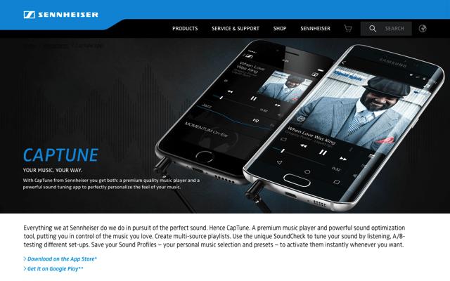 CapTune 著名耳機品牌 Sennheiser 推出免費音樂播放器,依照你的聽感打造個性化調音