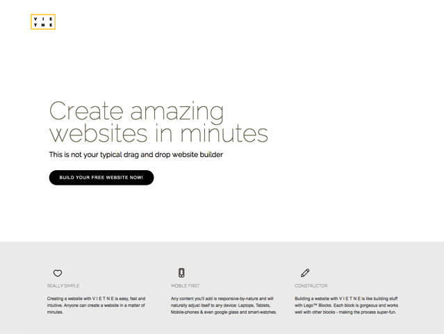VIETNE 強大卻易用免費架站工具,輕鬆建立各式網站彈指間