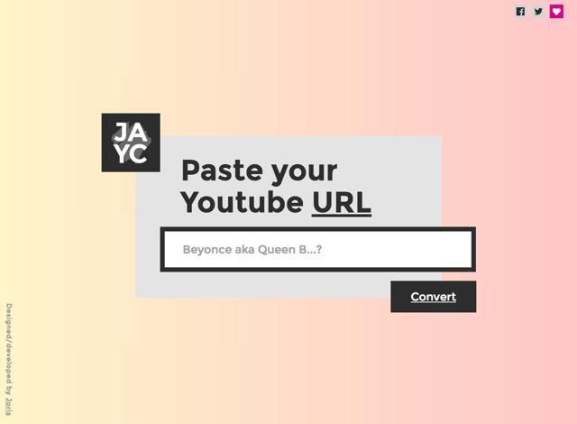 JAYC.audio 最簡單的 YouTube 轉 MP3 下載工具,只需將網址貼上免安裝