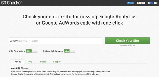 GA Checker 一鍵檢查網站所有頁面是否正確安裝 Google Analytics、AdWords 程式碼