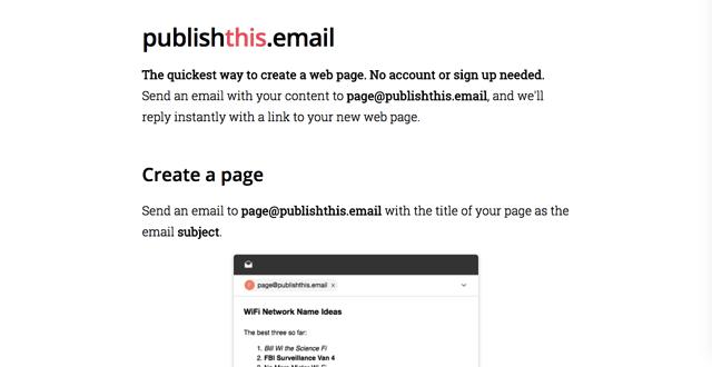 Publishthis.email 建立網頁最快速方法!將內容 Email 指定信箱產生網址