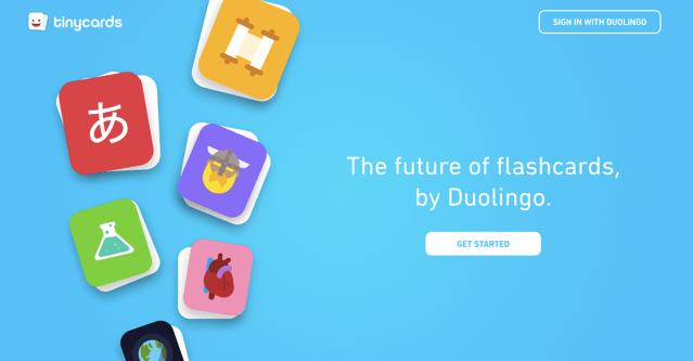 Tinycards:Duolingo 學習平台推出網頁版,利用單字卡記憶各種知識 via @freegroup