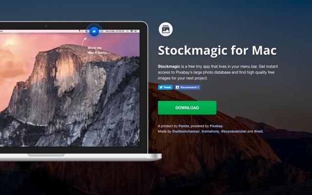 Stockmagic for Mac 免費圖庫 Pixabay 桌面應用程式,直接拖曳使用素材 via @freegroup