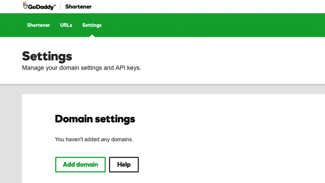 GoDaddy URL Shortener