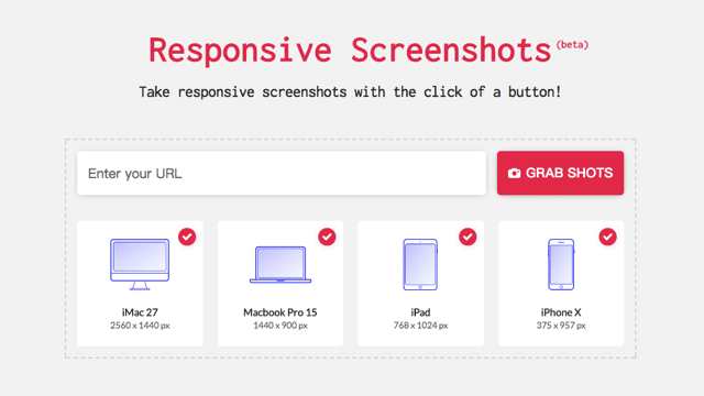 Responsive Screenshots