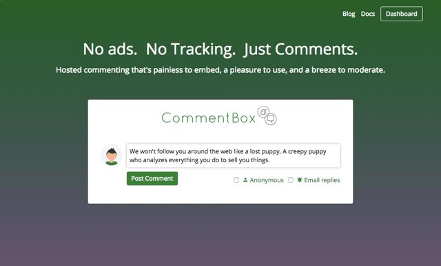 CommentBox.io 沒有廣告、不追蹤用戶隱私的網站留言系統