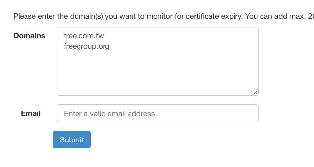Certificate Expiry Monitor