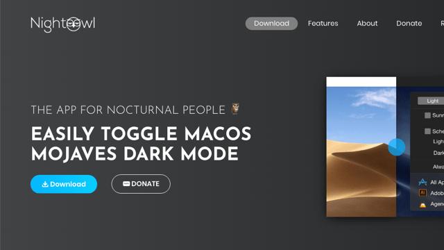 NightOwl 快速切換 macOS 淺深色模式,依照日出日落時間自動排程調整