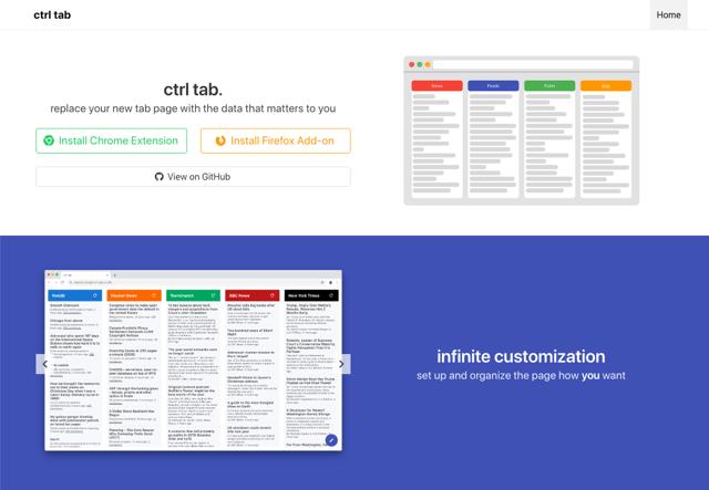 Ctrl tab 在瀏覽器分頁顯示對你更有用的新聞資訊(Chrome、Firefox)