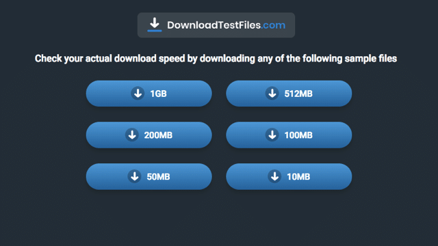 Download Test Files