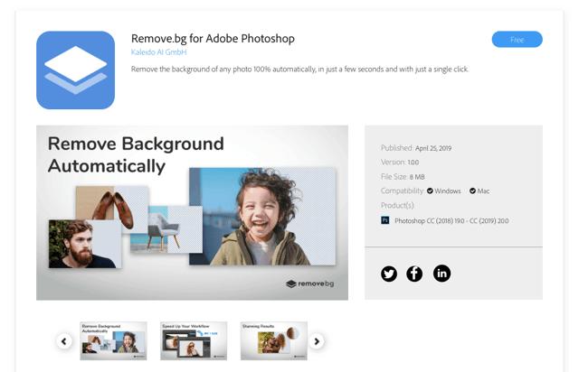 remove.bg for Photoshop