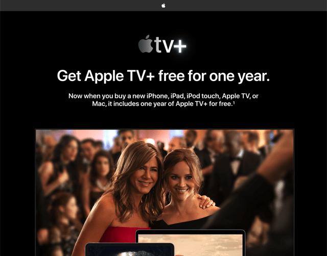 免費獲取 Apple TV+ 一年訂閱服務教學,只要九月後有新購裝置即享