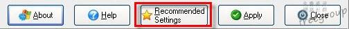直接點選 Recommended Settings 很方便!