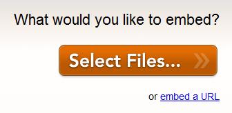 選擇要上傳的檔案,或是網址