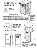 wood duck bird house plans
