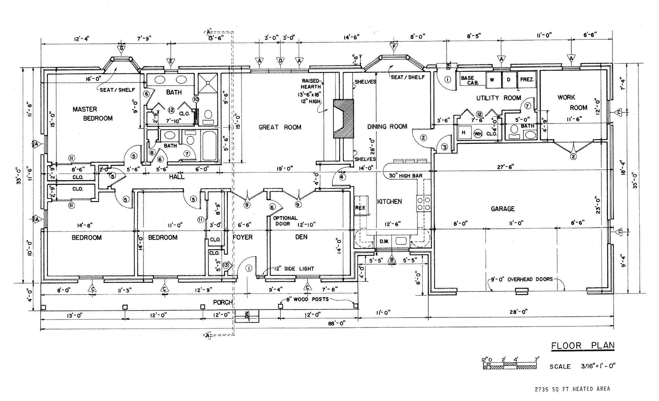 Free Country Ranch House Plans