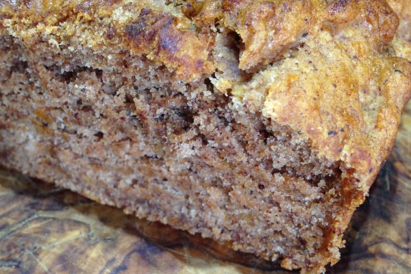 Gluten-free Banana Bread (with secretly stashed sweet potato!)