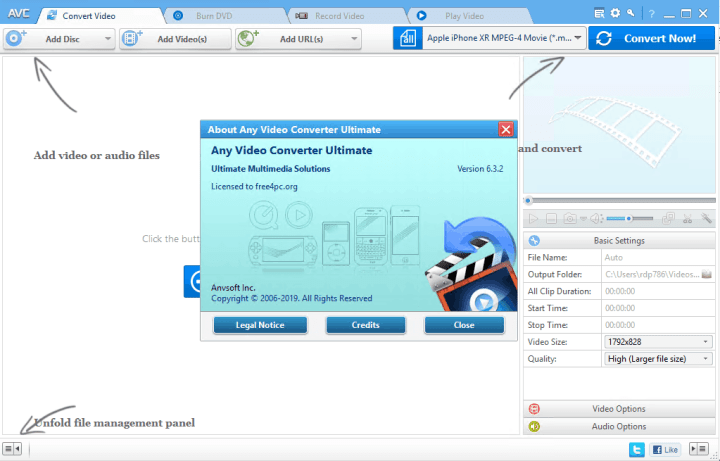Any Video Converter Ultimate 6.3.2 With Keygen [free4pc]