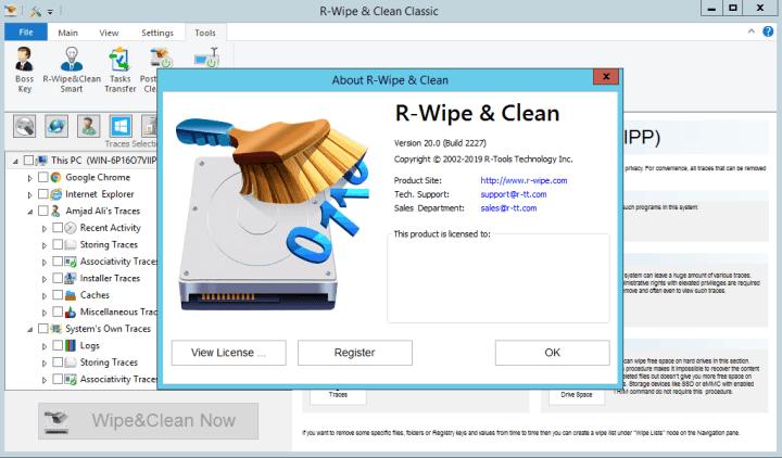 R-Wipe & Clean Serial Key