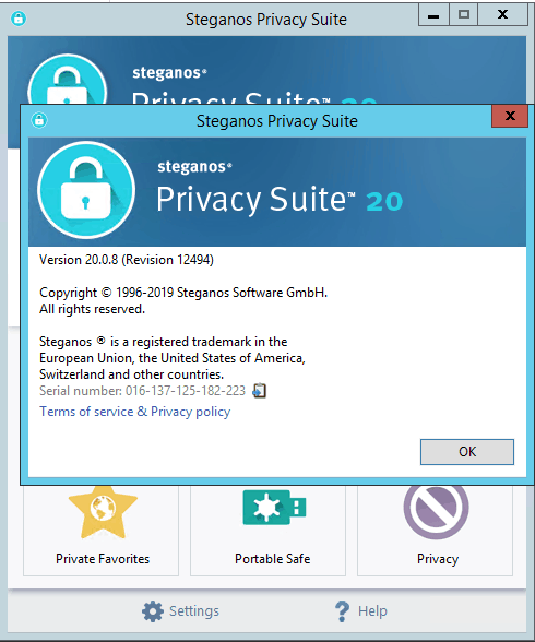 Steganos Privacy Suite 20 Serial key
