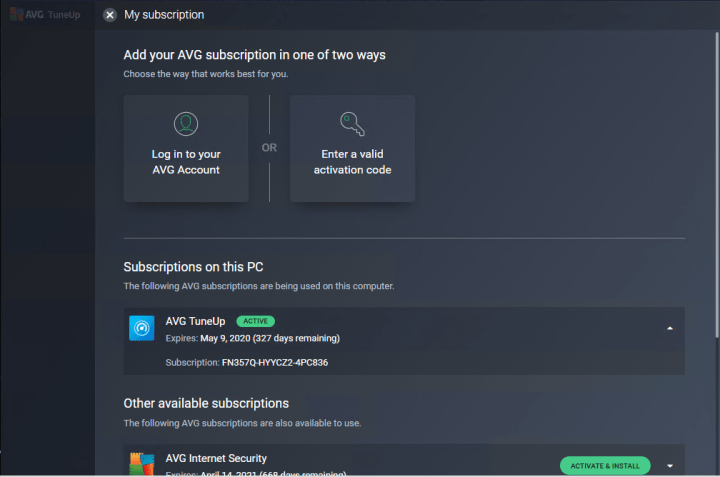 AVG TuneUp 19.1 Build 1098 Key