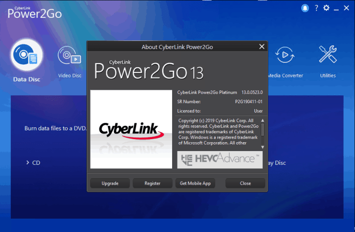 CyberLink Power2Go Platinum 13.0.0523.0 crack