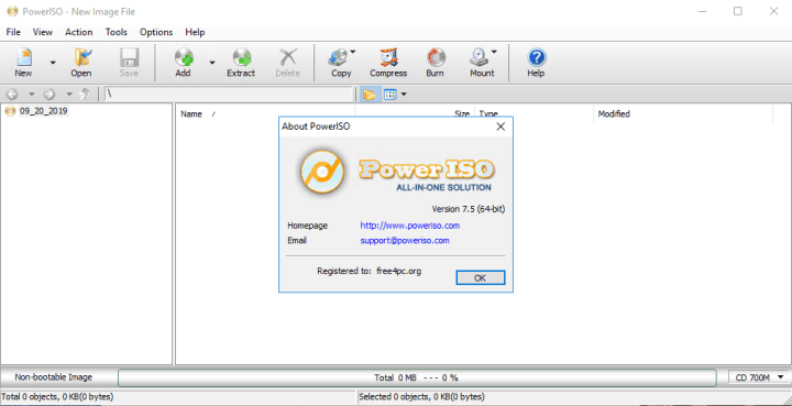 PowerISO 7.5 Registration Code